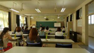 市内の中学校で講座をさせて頂きました